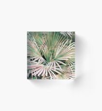 Palms II #nature #painting Acrylic Block