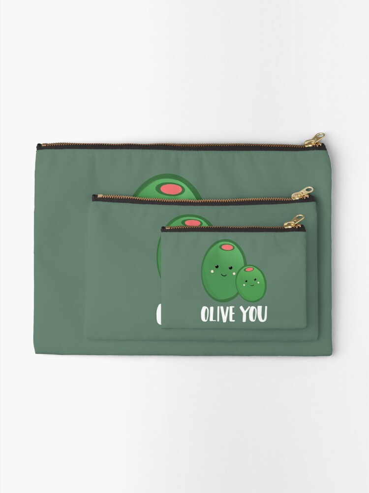 Alternate view of OLIVE YOU - Pun - Funny - Green - Olives Zipper Pouch