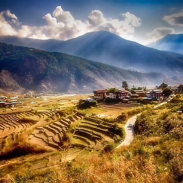 The Rice Fields and Mountains of Bhutan by kdxweaver