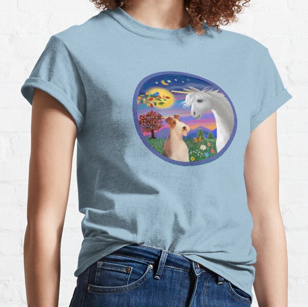 Unicorn and Wire Fox Terrier (#4) Classic T-Shirt