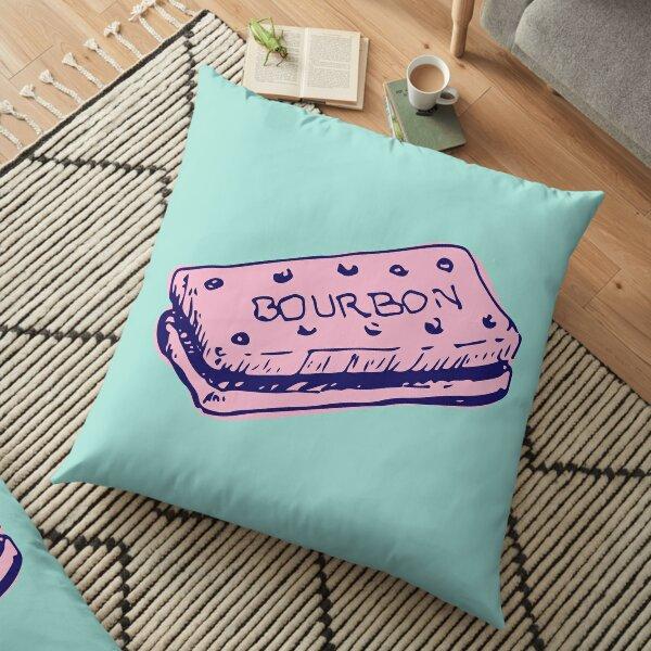 Kitsch Pink & Navy Blue Bourbon Biscuit Floor Pillow