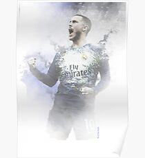 Eden Hazard im Madrid Real Poster