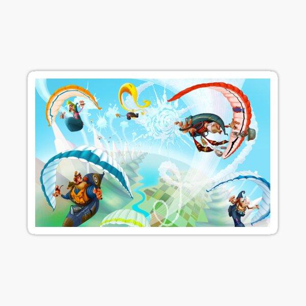 Course de parapente Sticker