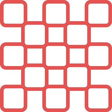 Geometric Pattern: Rounded Weave: Red/White by redwolfoz