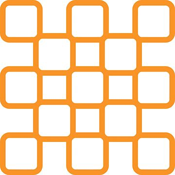 Geometric Pattern: Rounded Weave: Orange/White by redwolfoz
