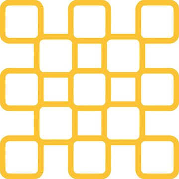 Geometric Pattern: Rounded Weave: Yellow/White by redwolfoz
