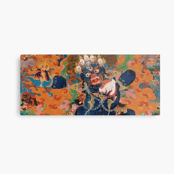 Asian Heritage - Yama, King of Hell, King Yan, Yanluo, dharmapala, wrathful god Metal Print