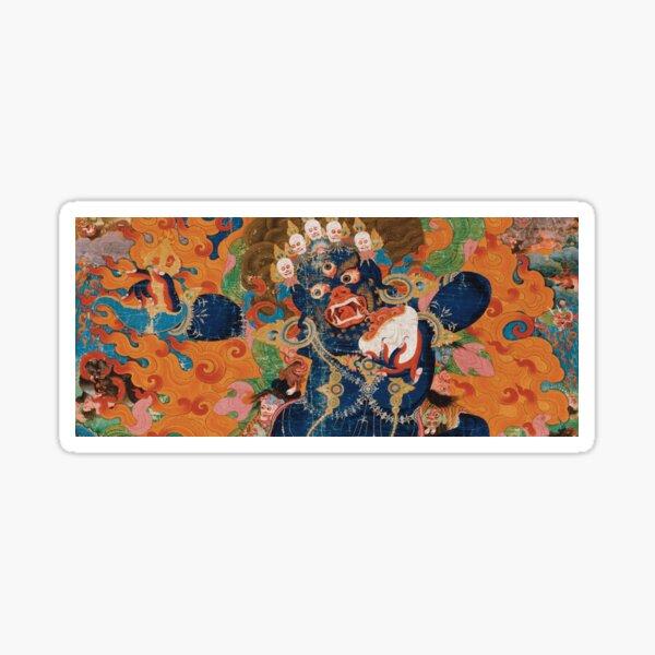 Asian Heritage - Yama, King of Hell, King Yan, Yanluo, dharmapala, wrathful god Sticker