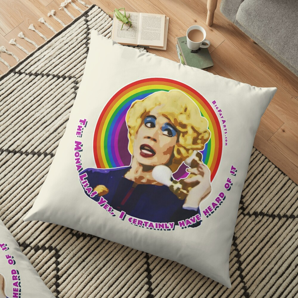 Miss Babs Mona Lisa Floor Pillow