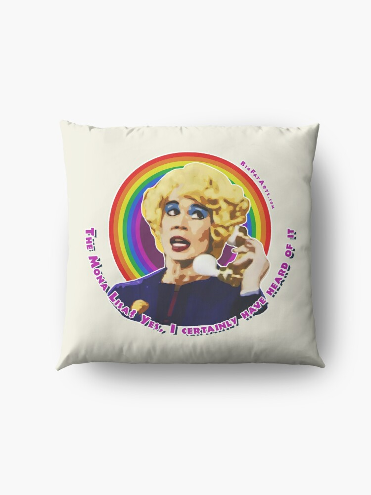 Alternate view of Miss Babs Mona Lisa Floor Pillow