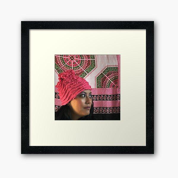 (555) Pink ruches Framed Art Print