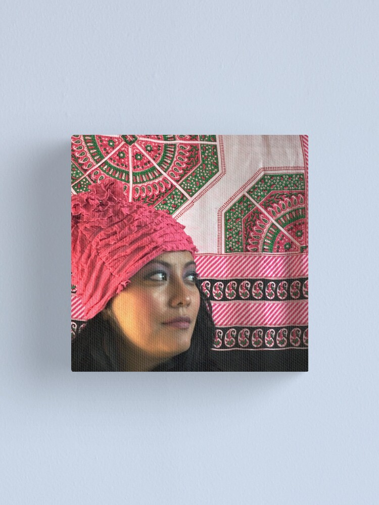 Alternate view of (556) Pink ruches Canvas Print