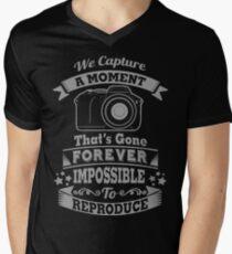 photography photographer t-shirt Men's V-Neck T-Shirt