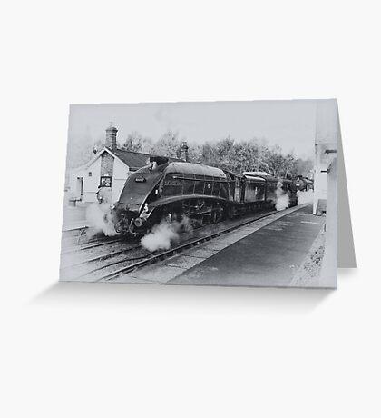 No 60007  Sir Nigel Gresley at Grosmont. Greeting Card