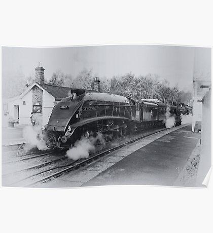 No 60007  Sir Nigel Gresley at Grosmont. Poster