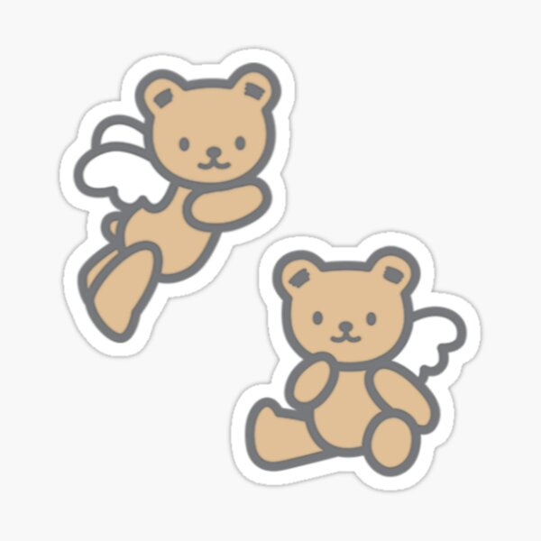 Japanese Cute Teddy Bear Sticker Set Sticker