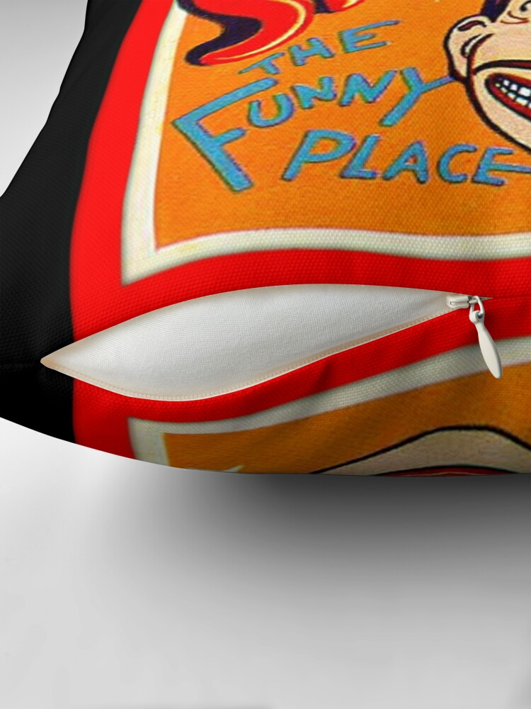 Alternate view of coney island fan art Throw Pillow