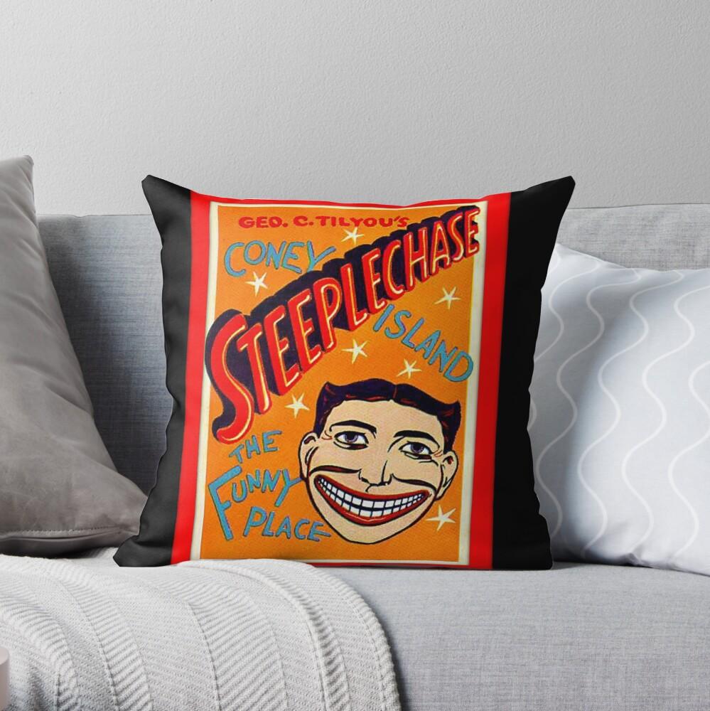 coney island fan art Throw Pillow
