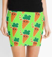 Cute kawaii orange carrot with cute hearts Mini Skirt