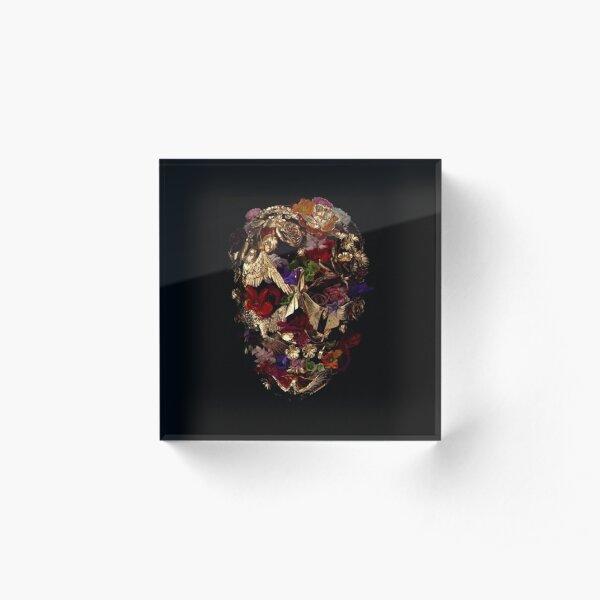 Alexander Mcqueen Floral Savage Beauty Mask Acrylic Block