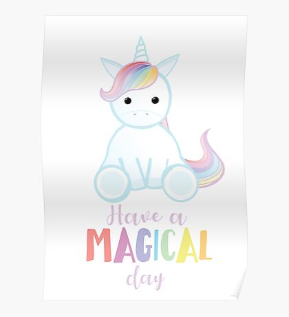 Unicorn - Have a MAGICAL Birthday Poster