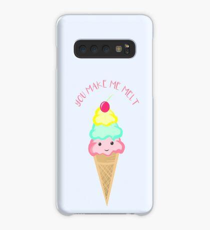 You make me melt - Ice Cream Pun T Shirt Case/Skin for Samsung Galaxy