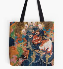 Asian Heritage - Yama, King of Hell, King Yan, Yanluo, dharmapala, wrathful god Tote Bag
