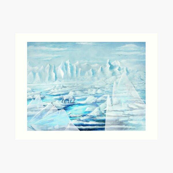 Ice - Digital Painting Art Print