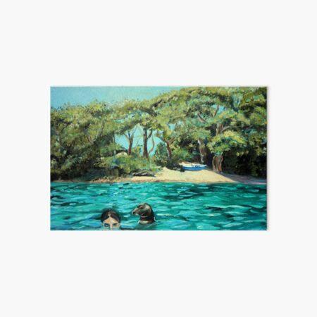Meeting on the Helford River Art Board Print