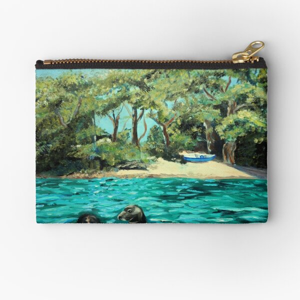 Meeting on the Helford River Zipper Pouch