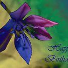 Floral happy Birthday card by sarnia2