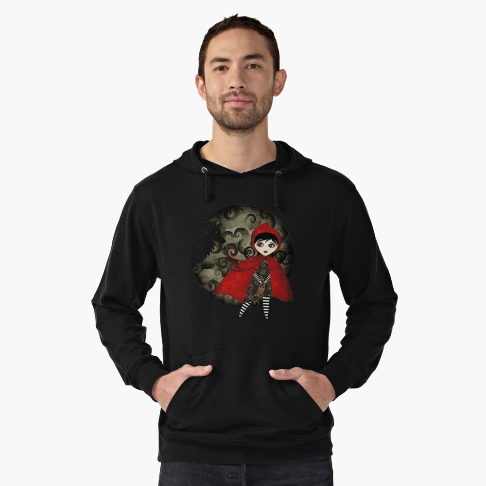 Little Red Capuccine Lightweight Hoodie Front