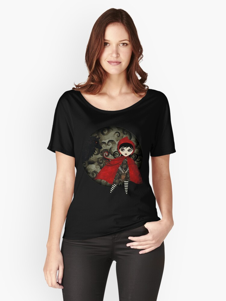 Little Red Capuccine Women's Relaxed Fit T-Shirt Front