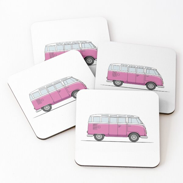 Camper T1 Samba - Pink Coasters (Set of 4)