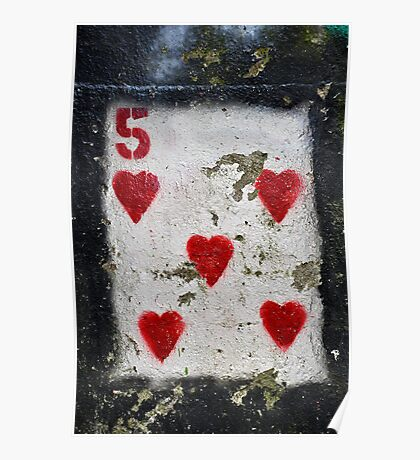 5 of Hearts Poster
