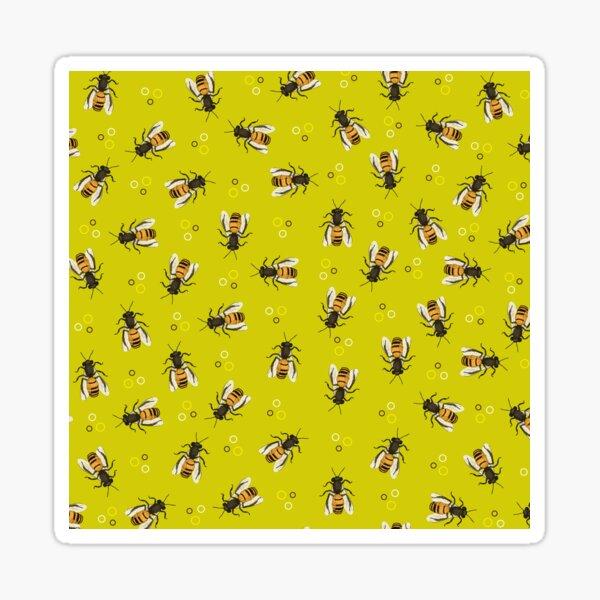 Lime bee pattern Sticker