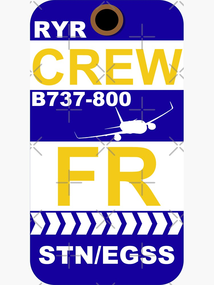 FR Boeing 737-800 Crew STN by AvGeekCentral