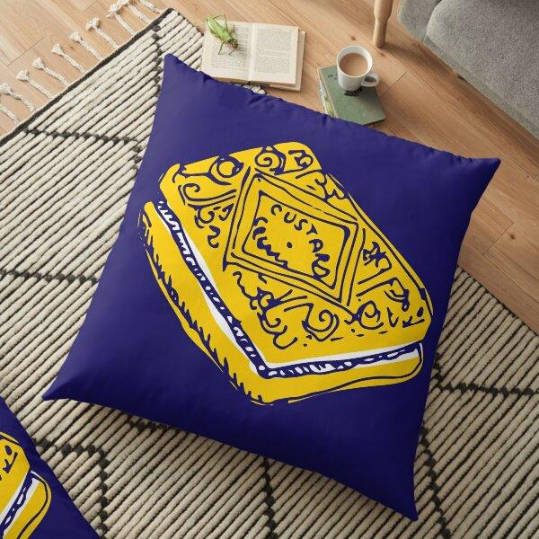 Custard Cream Biscuit Floor Pillow