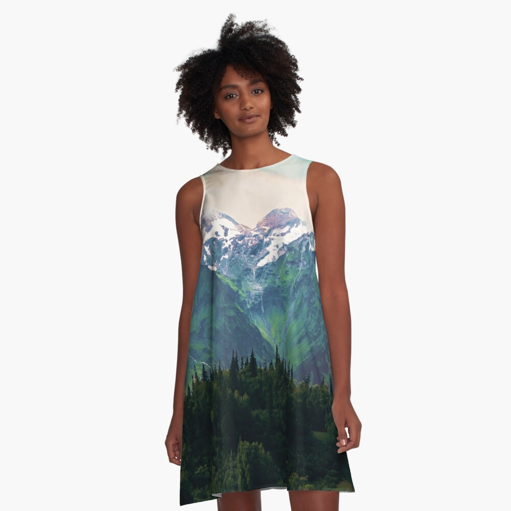 Escaping from woodland heights I A-Line Dress