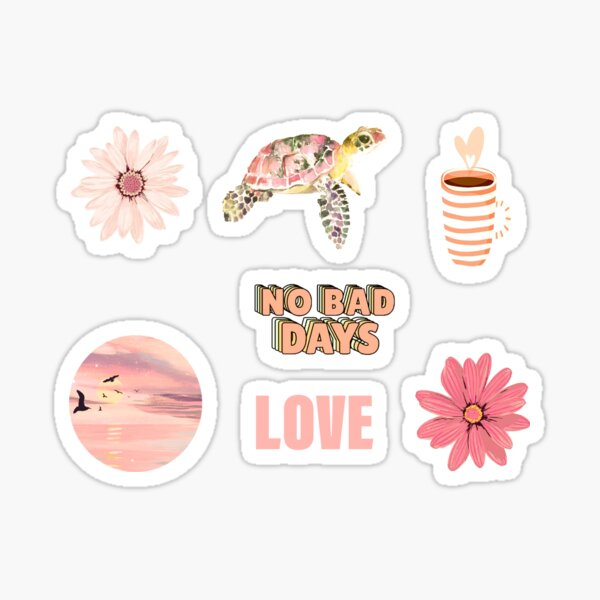 Peach Aesthetic Pack Sticker