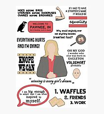 Knope Quotes Photographic Print