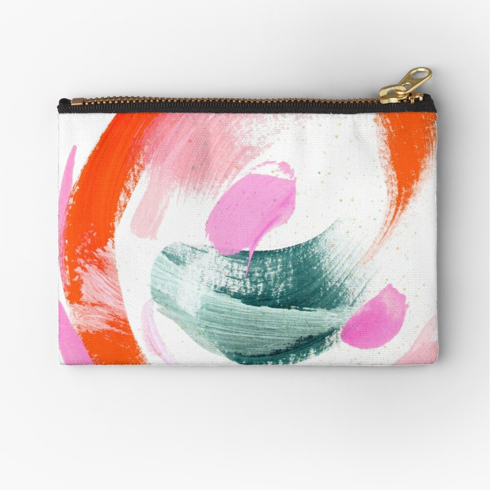 Abstract Acrylic Painting Zipper Pouch