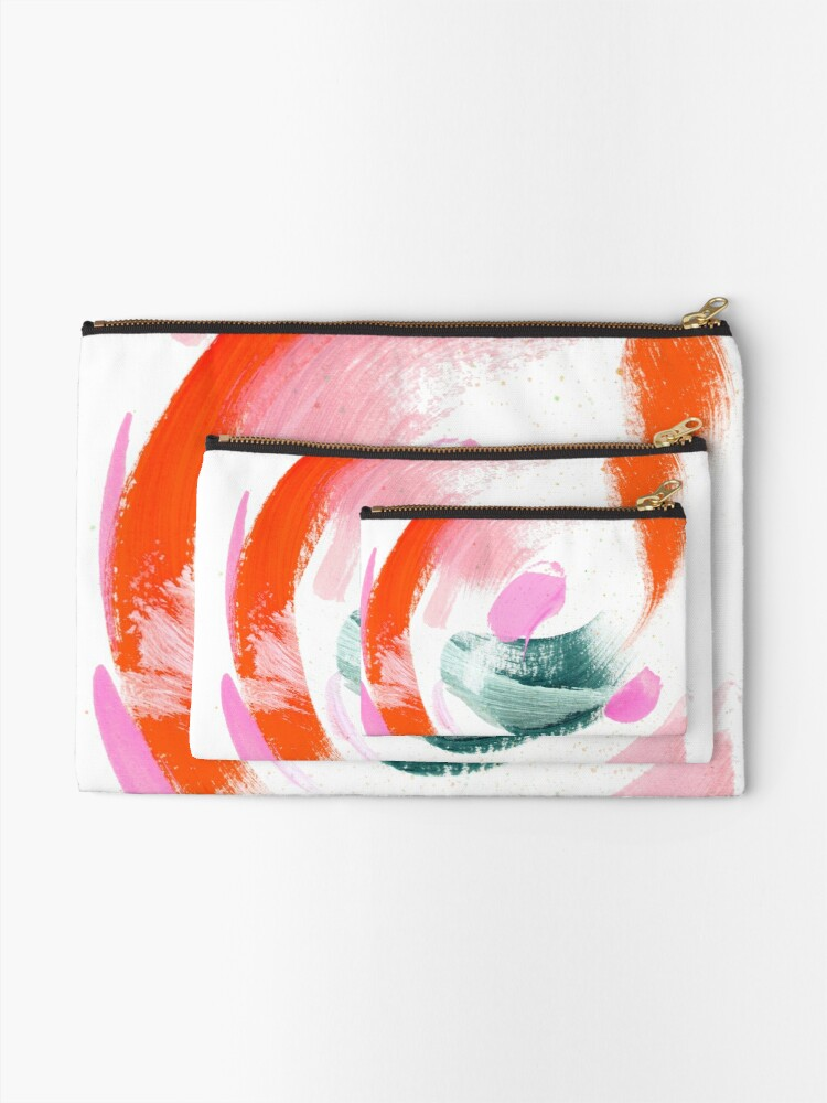 Alternate view of Abstract Acrylic Painting Zipper Pouch