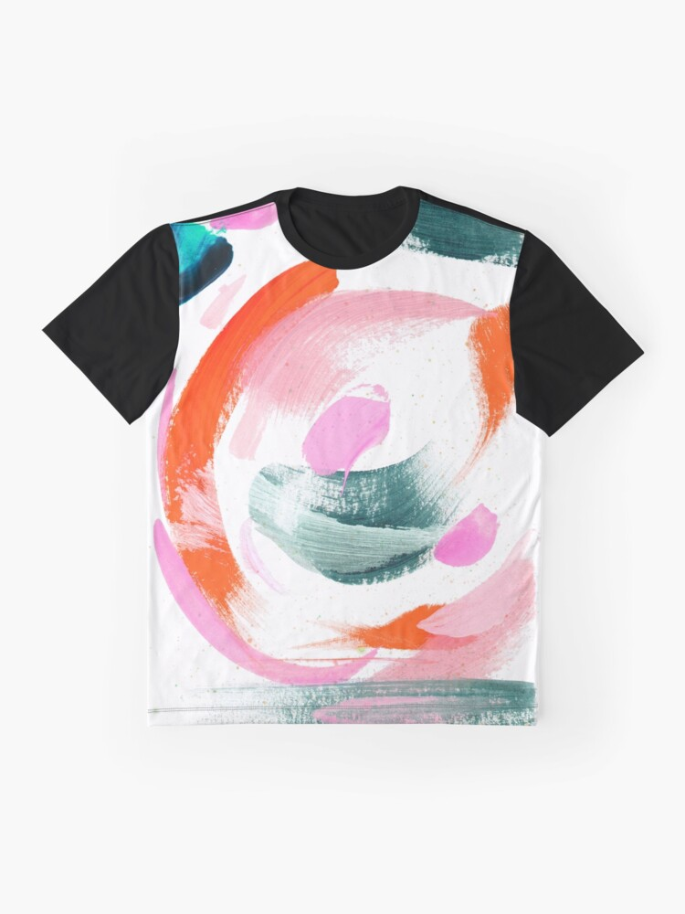 Alternate view of Abstract Acrylic Painting Graphic T-Shirt