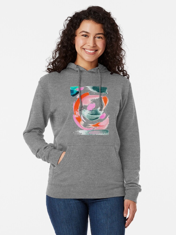 Alternate view of Abstract Acrylic Painting Lightweight Hoodie