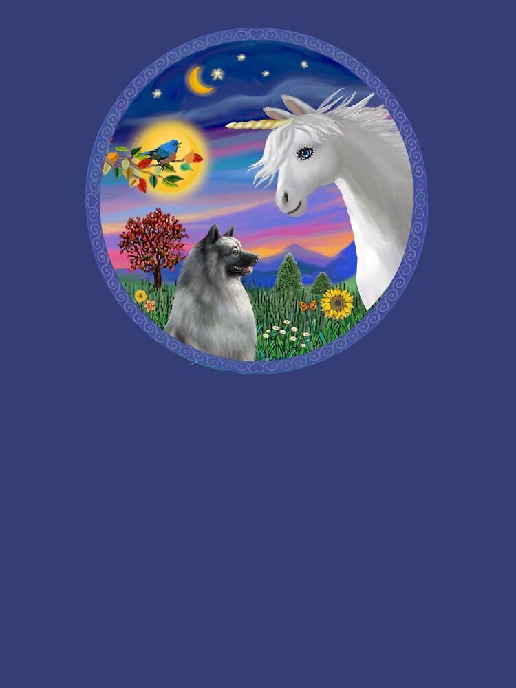 Unicorn and Keeshond by JeanBFitzgerald