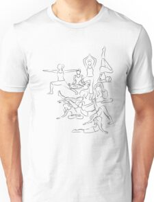 Yoga Asanas - drawing Unisex T-Shirt