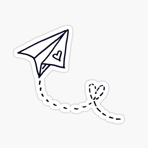 Love. Plane. LDR Sticker