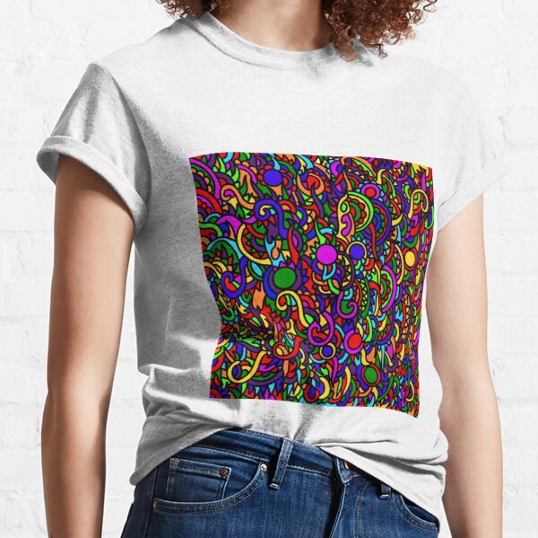 Stained Glass doodle  Classic T-Shirt