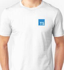 TypeScript Logo (White) Unisex T-Shirt